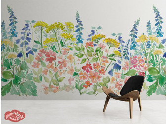 wanden decoratie aquarel wall art watercolor floral
